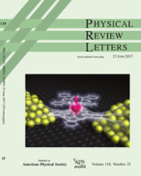 Cover of Phys. Rev. Letters