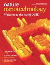 Cover of Nature Nanotechnology